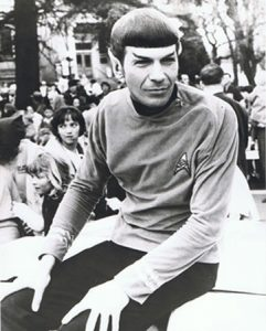 Leonard nimoy as spock in his first and final event