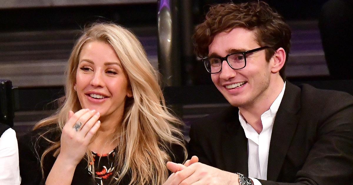 Caspar Jopling with fiance Ellie Goulding