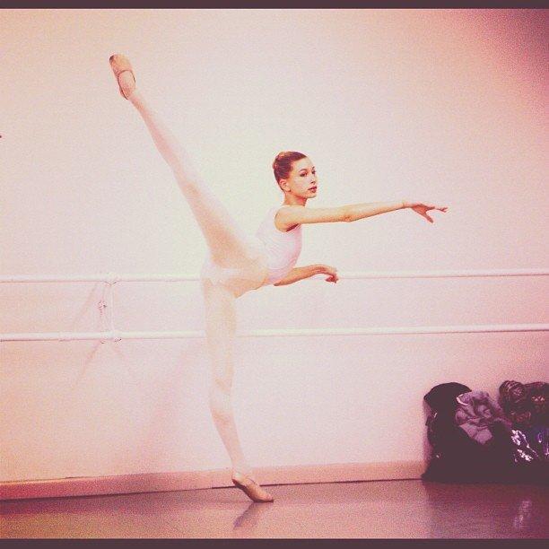Hailey Baldwin in Ballet