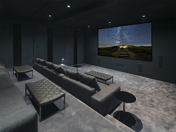Beyonce house Theater room
