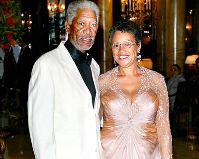 Myrna with ex-husband Morgan freeman