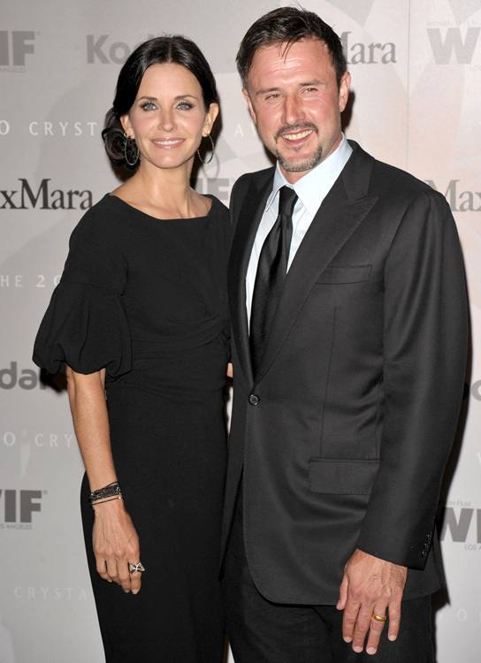 David Arquette with ex courtney cox
