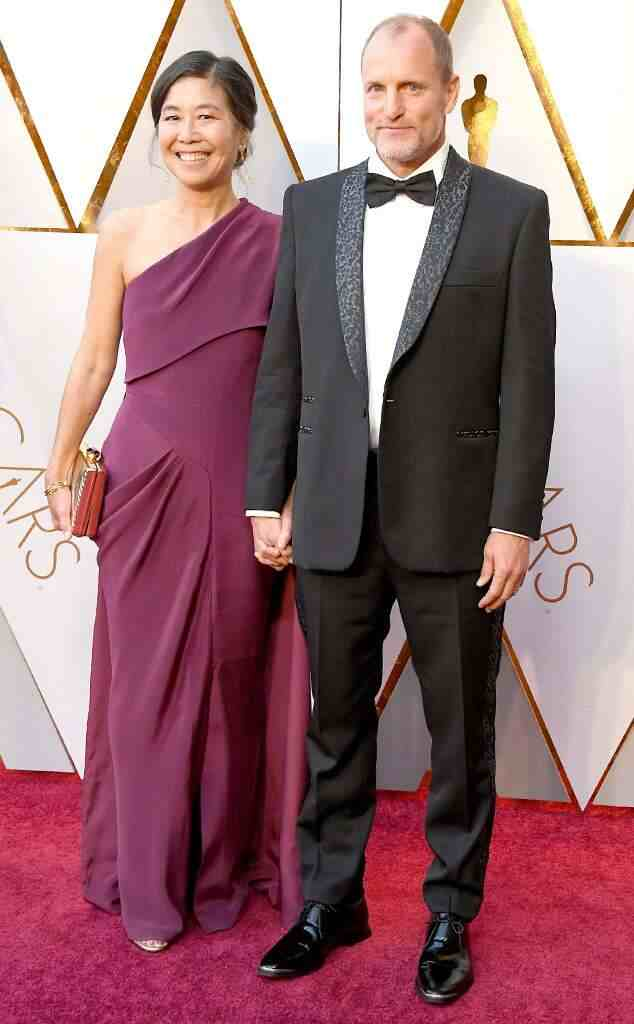 laura louie with husband Woody harrelson