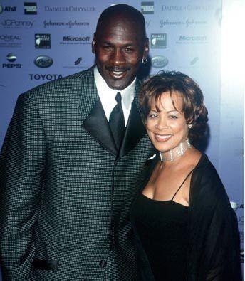 Michael with ex-wife Juanita Vanoy