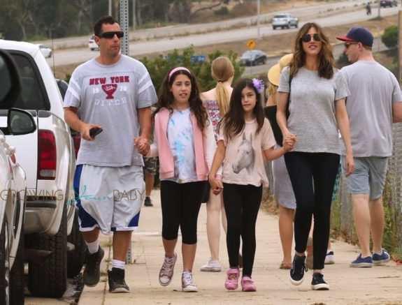 Adam Sandler and family going to malibu fair