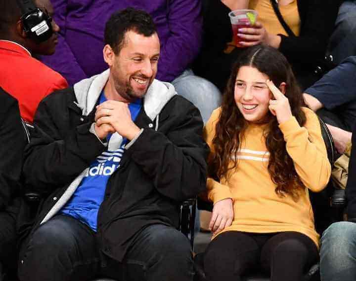 Adam sandler with daughter Sadie Sandler