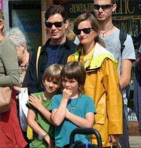 cillian murphy with wife-yvonne-mcguinness and two-sons