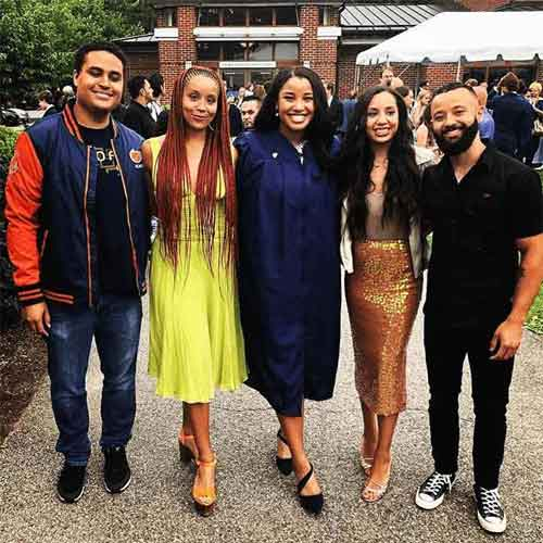 Sasha Fox with her Siblings on her High School graduation