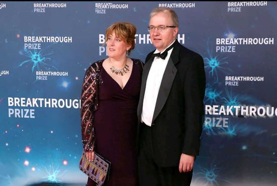robert with his wife katrina in breakthrough prize