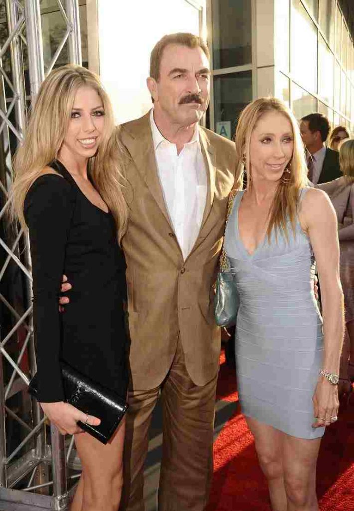 Tom Selleck with his daughter Hannah and wife Jillie Mack