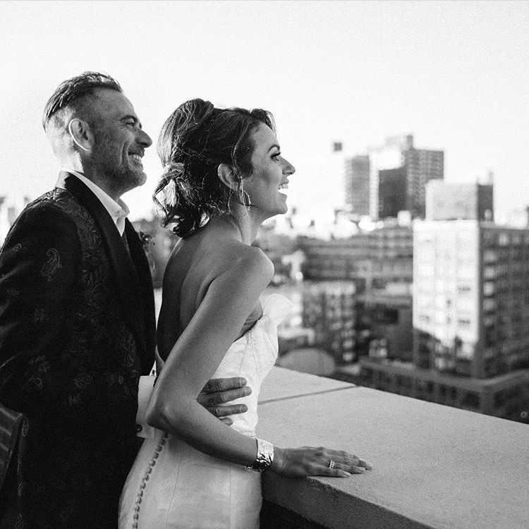 Jeffrey with his second wife Hilarie Burton