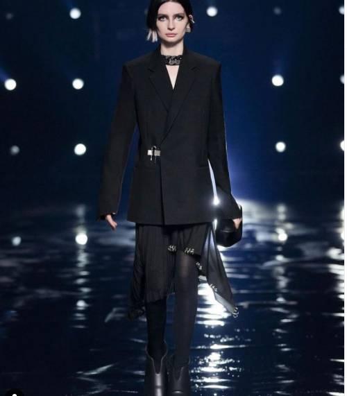 Meadow Rain Walker makes her modeling  debut at Paris Fashion week