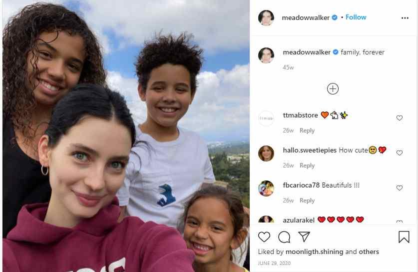 Meadow Rain Walker enjoying her time  with Van Diesel's kids